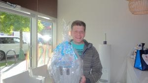 Our grand prize winner, Aaron.