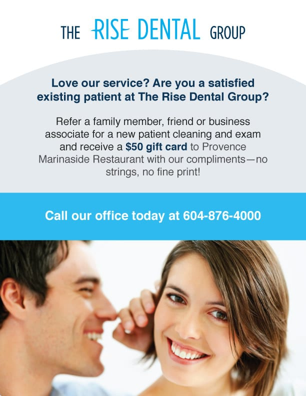 Referral Promotion From The Rise Dental Group